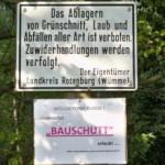 Verboten sind Grünschnitt und Laub, erlaubt werden soll Bauschutt